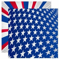 Reminisce - Stars and Stripes Collection - 12 x 12 Double Sided Paper - Liberty for All