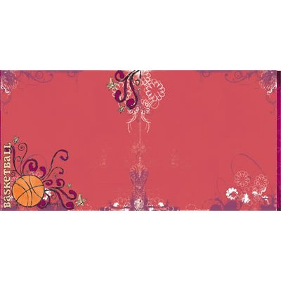 Reminisce - Sports Chick - 12x12 Doublesided Paper - Hoop Diva, CLEARANCE