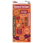 Reminisce - Sports Chick - Cardstock Stickers - Basketball
