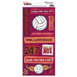 Reminisce - Sports Chick - Cardstock Stickers - Volleyball