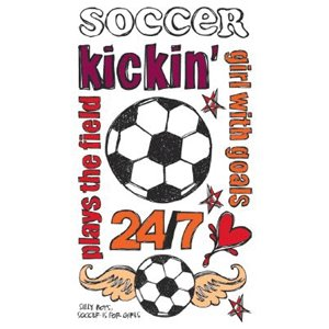 Reminisce - Sports Chick - Creative Rub On Transfers - Soccer , CLEARANCE