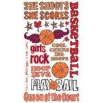 Reminisce - Sports Chick - Creative Rub On Transfers - Basketball, CLEARANCE