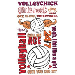 Reminisce - Sports Chick - Creative Rub On Transfers - Volleyball, CLEARANCE