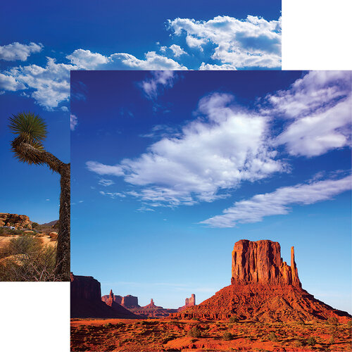 Reminisce - Scenic Southwest Collection - 12 x 12 Double Sided Paper - Monument Valley