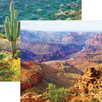 Reminisce - Scenic Southwest Collection - 12 x 12 Double Sided Paper - Grand Canyon