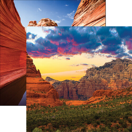Reminisce - Scenic Southwest Collection - 12 x 12 Double Sided Paper - Sedona