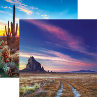 Reminisce - Scenic Southwest Collection - 12 x 12 Double Sided Paper - Shiprock