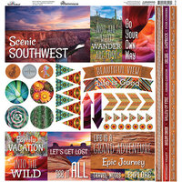 Reminisce - Scenic Southwest Collection - 12 x 12 Cardstock Stickers - Elements