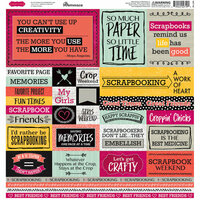 Reminisce - Scrappin' Friends Collection - 12 x 12 Cardstock Stickers