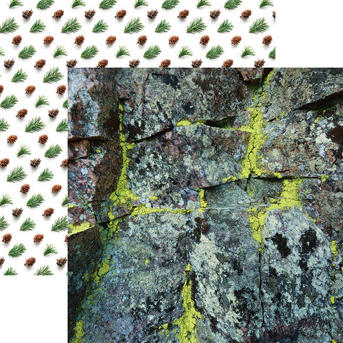 Ella and Viv Paper Company - Scandinavian Woodland Collection - 12 x 12 Double Sided Paper - Mossy Rock