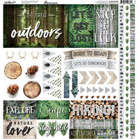 Ella and Viv Paper Company - Scandinavian Woodland Collection - 12 x 12 Cardstock Stickers - Elements