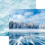 Reminisce - Snow Day Collection - 12 x 12 Double Sided Paper - Blue Ice