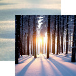 Reminisce - Snow Day Collection - 12 x 12 Double Sided Paper - Sunset