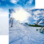 Reminisce - Snow Day Collection - 12 x 12 Double Sided Paper - Ski Lift