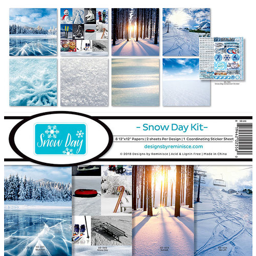 Reminisce - Snow Day Collection - 12 x 12 Collection Kit
