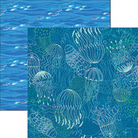 Reminisce - Sea Life Collection - 12 x 12 Double Sided Paper - So Jelly