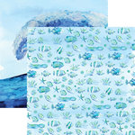 Reminisce - Seaside Collection - 12 x 12 Double Sided Paper - Watercolor Sea Life