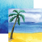 Reminisce - Seaside Collection - 12 x 12 Double Sided Paper - Watercolor Palm
