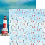 Reminisce - Seaside Collection - 12 x 12 Double Sided Paper - Watercolor Nautical