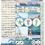 Reminisce - Seaside Collection - 12 x 12 Cardstock Stickers - Combo