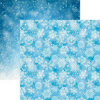 Reminisce - Snowflake Ridge Collection - 12 x 12 Double Sided Paper - Falling Snow
