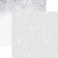 Reminisce - Snowflake Ridge Collection - 12 x 12 Double Sided Paper - Whiteout