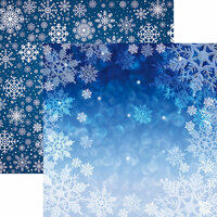 Reminisce - Snowflake Ridge Collection - 12 x 12 Double Sided Paper - Snow Day