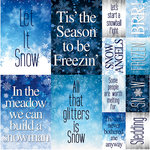 Reminisce - Snowflake Ridge Collection - 12 x 12 Cardstock Stickers - Poster