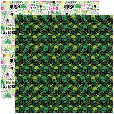 Reminisce - Shenanigans Collection - 12 x 12 Double Sided Paper - ShamROCK