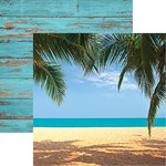 Reminisce - The Shipwreck Club Collection - 12 x 12 Double Sided Paper - Caribbean Beach