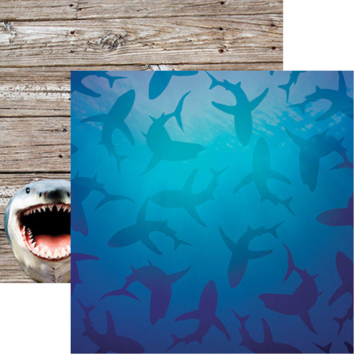 Reminisce - The Shipwreck Club Collection - 12 x 12 Double Sided Paper - Shark Tank