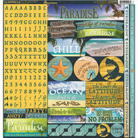Reminisce - The Shipwreck Club Collection - 12 x 12 Cardstock Stickers - Combo