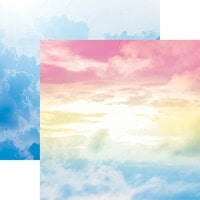 Reminisce - Skyscape Collection - 12 x 12 Double Sided Paper - Cloud Nine