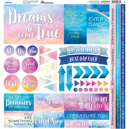 Reminisce - Skyscape Collection - 12 x 12 Cardstock Stickers - Elements