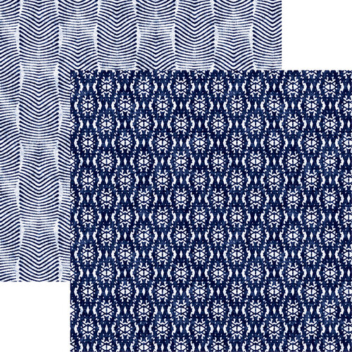 Reminisce - Shades of Indigo Collection - 12 x 12 Double Sided Paper - Shades of Indigo