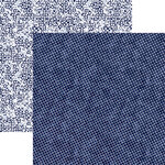 Reminisce - Shades of Indigo Collection - 12 x 12 Double Sided Paper - Indigo Dot