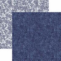Reminisce - Shades of Indigo Collection - 12 x 12 Double Sided Paper - Indigo Dot