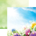 Reminisce - Signs of Spring Collection - 12 x 12 Double Sided Paper - Easter Eggs