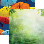 Reminisce - Signs of Spring Collection - 12 x 12 Double Sided Paper - Spring Showers