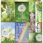 Reminisce - Signs of Spring Collection - 12 x 12 Cardstock Stickers - Poster