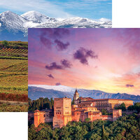 Reminisce - Spain Collection - 12 x 12 Double Sided Paper - Ancient Alhambra