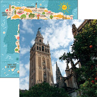 Reminisce - Spain Collection - 12 x 12 Double Sided Paper - Seville Cathedral