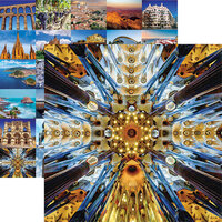 Reminisce - Spain Collection - 12 x 12 Double Sided Paper - Sagrada Familia Basilica