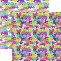 Reminisce - Super Girl Collection - 12 x 12 Double Sided Paper - Girl Power