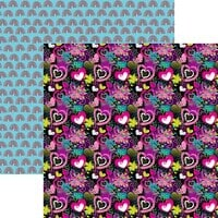 Reminisce - Super Girl Collection - 12 x 12 Double Sided Paper - Love