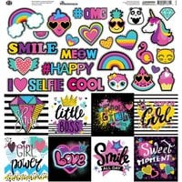 Reminisce - Super Girl Collection - 12 x 12 Elements Sticker