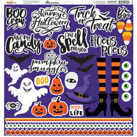 Reminisce - 12 x 12 Cardstock Stickers - Spooky Jack