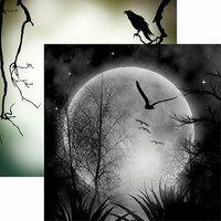 Reminisce - Spooky Night Collection - Halloween - 12 x 12 Double Sided Paper - Full Moon