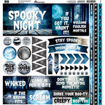 Reminisce - Spooky Night Collection - Halloween - 12 x 12 Cardstock Stickers - Elements