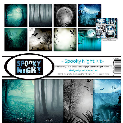 Reminisce - Spooky Night Collection - Halloween - 12 x 12 Collection Kit
